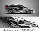car decal vector  graphic... | Shutterstock .eps vector #1105335401