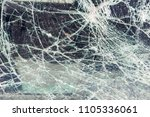 broken car window  an accident... | Shutterstock . vector #1105336061