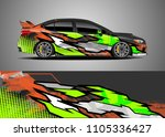car decal vector  graphic... | Shutterstock .eps vector #1105336427