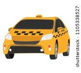 the yellow taxi car vector... | Shutterstock .eps vector #1105338527