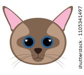 isolated cute cat avatar | Shutterstock .eps vector #1105341497