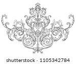 rococo  baroque element ... | Shutterstock .eps vector #1105342784