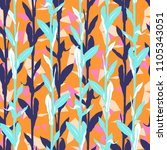 vivid floral pattern with... | Shutterstock .eps vector #1105343051