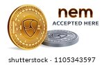nem. accepted sign emblem.... | Shutterstock .eps vector #1105343597