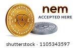 nem. accepted sign emblem....   Shutterstock .eps vector #1105343597