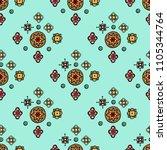abstract tribal vintage ethnic... | Shutterstock . vector #1105344764