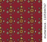 abstract  decorative ethnic... | Shutterstock . vector #1105344767