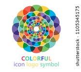 colorful flower logo  symbol ... | Shutterstock .eps vector #1105345175