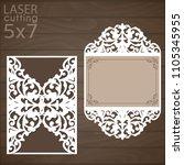 laser cut wedding invitation...   Shutterstock .eps vector #1105345955