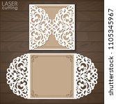 laser cut wedding invitation... | Shutterstock .eps vector #1105345967