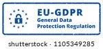 eu gdpr label illustration | Shutterstock .eps vector #1105349285