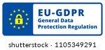 eu gdpr label illustration | Shutterstock .eps vector #1105349291