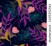 trendy textile pattern with...   Shutterstock .eps vector #1105352561