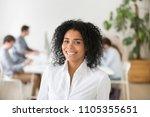 portrait of smiling african... | Shutterstock . vector #1105355651
