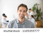 portrait of casual smiling... | Shutterstock . vector #1105355777