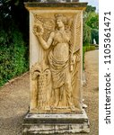 A Winged Female Figure With A...