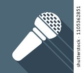 hands microphone icon. white... | Shutterstock .eps vector #1105362851