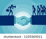 vector of handshake and... | Shutterstock .eps vector #1105365011