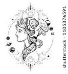 vector hand drawn illustration...   Shutterstock .eps vector #1105376591