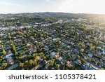 late afternoon aerial view of... | Shutterstock . vector #1105378421