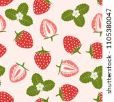 seamless pattern with berries... | Shutterstock .eps vector #1105380047