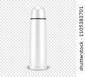 vector realistic 3d wgite empty ... | Shutterstock .eps vector #1105383701
