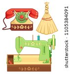 old traditional heritage icons... | Shutterstock .eps vector #1105384091