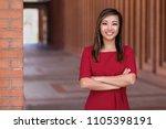 beautiful asian woman career... | Shutterstock . vector #1105398191