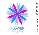 colorful flower logo  symbol ... | Shutterstock .eps vector #1105398299