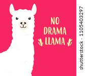 white llama with lettering. no... | Shutterstock .eps vector #1105403297