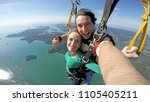 sky diving tandem self portrait | Shutterstock . vector #1105405211