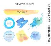 watercolor  text box bubbles... | Shutterstock .eps vector #1105430639