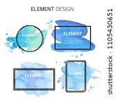 watercolor  text box bubbles... | Shutterstock .eps vector #1105430651