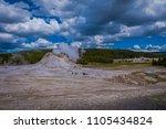 beautiful landscape of old... | Shutterstock . vector #1105434824
