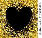gold frame with glitter... | Shutterstock .eps vector #1105435421