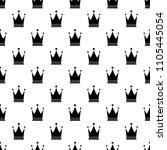 seamless pattern crown  minimal ...   Shutterstock .eps vector #1105445054