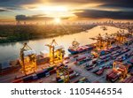 logistics and transportation of ... | Shutterstock . vector #1105446554