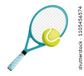 tennis racket and ball isolated ... | Shutterstock .eps vector #1105456574