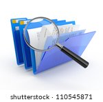 magnifying glass over the blue... | Shutterstock . vector #110545871