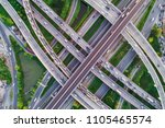 cityscape aerial look down view ...   Shutterstock . vector #1105465574