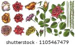 floral bouquet design elements... | Shutterstock .eps vector #1105467479