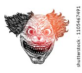 scary clown head concept of... | Shutterstock .eps vector #1105467491