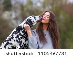picture of a young woman licked ... | Shutterstock . vector #1105467731