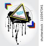 vector stain banner | Shutterstock .eps vector #110547341
