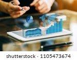 businessman investment... | Shutterstock . vector #1105473674
