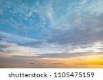beautiful sunset sky background ...   Shutterstock . vector #1105475159