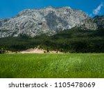 mountains near town kemer ...   Shutterstock . vector #1105478069
