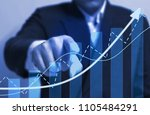 chart direction up trend and... | Shutterstock . vector #1105484291