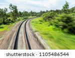 railroad in motion railroad... | Shutterstock . vector #1105486544