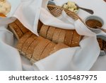 rye bread and sauces ... | Shutterstock . vector #1105487975